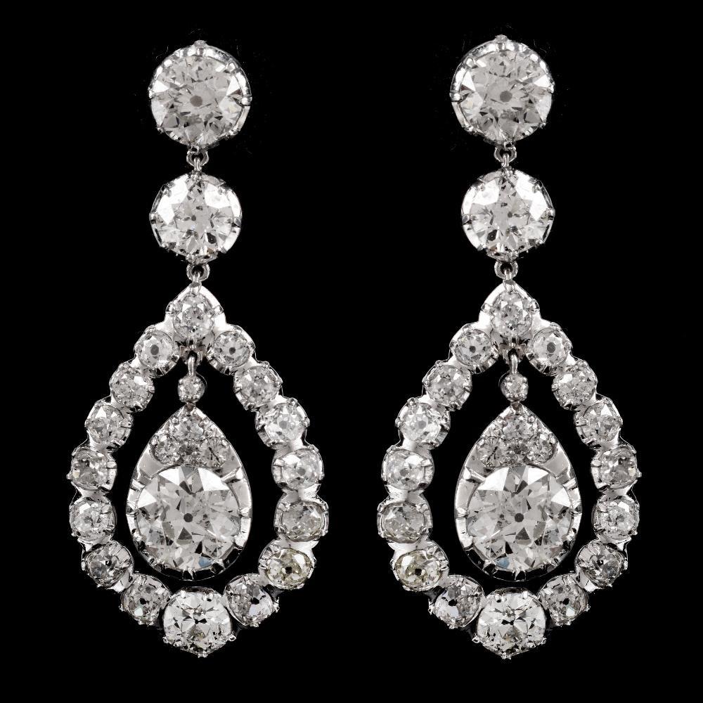 17.14_Ct_Diamond_Chandelier_Earrings